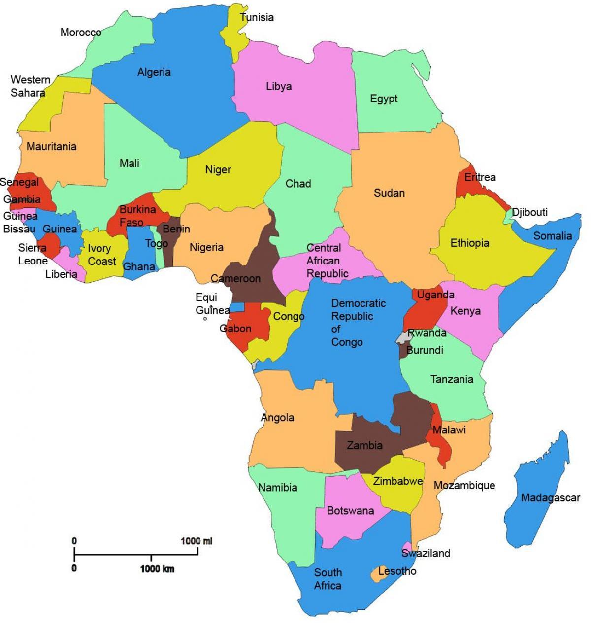 Tanzania Afrika Kort Et Kort Over Afrika Der Viser Tanzania